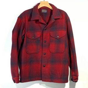 Pendleton Wool Jacket M Red Rockabilly Outdoor